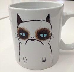 grumpy cat tasse