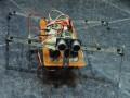 Vista frontal del robot al tiempo que avanza